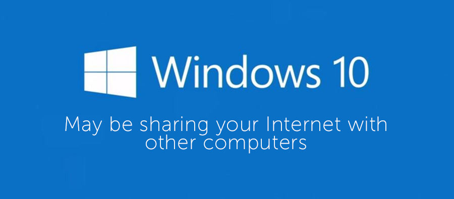 Windows sharing your connection